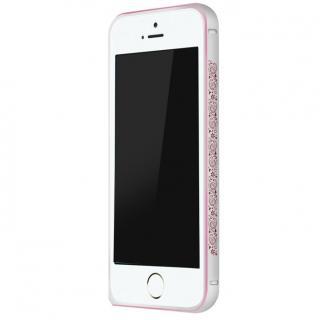 電波干渉を抑えたアルミバンパー ibacks Arc シルバー&ペイズリー iPhone SE/5s/5バンパー