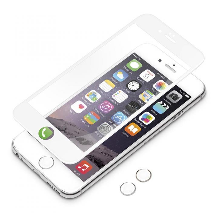 iPhone6 フィルム [0.38mm]3Dフルラウンド ゴリラガラス ホワイト iPhone 6_0