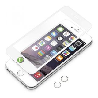 [0.38mm]3Dフルラウンド ゴリラガラス ホワイト iPhone 6