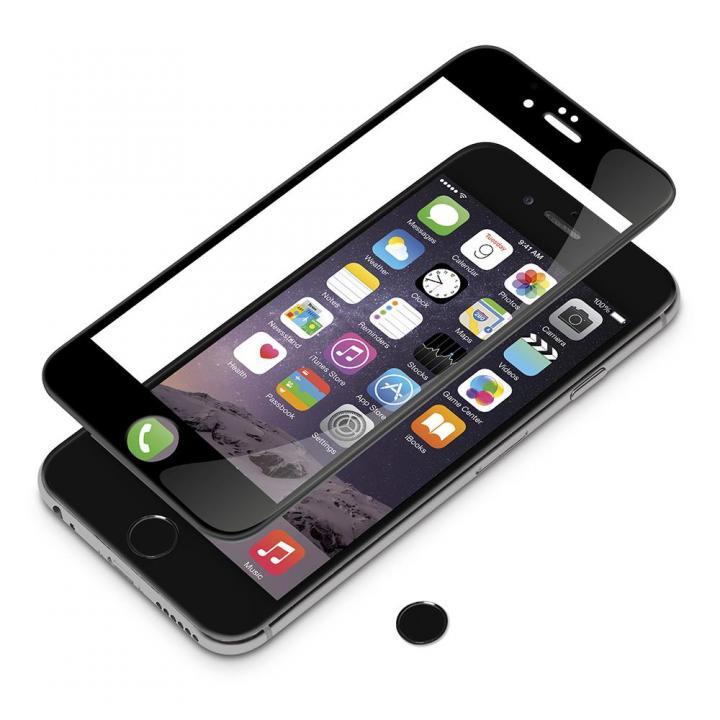 [0.38mm]3Dフルラウンド ゴリラガラス ブラック iPhone 6