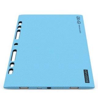 [8000mAh]ノートのように薄い5.2mm モバイルバッテリー Power Blade ブルー