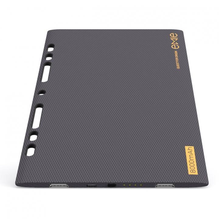 [8000mAh]ノートのように薄い5.2mm モバイルバッテリー Power Blade ブラック_0