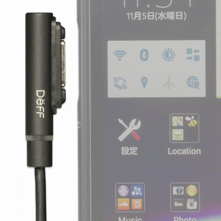 [1.0m]TRAVEL BIZ XPERIA マグネット式充電ケーブル ブラック 1.0m_0