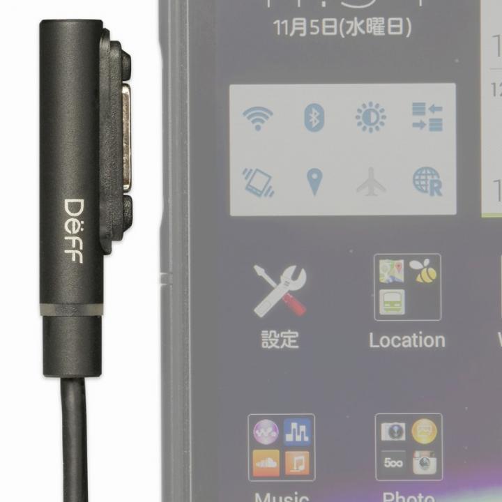 [20cm]TRAVEL BIZ XPERIA マグネット式充電ケーブル ブラック_0