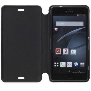 天然牛革手帳型ケース MASK Xperia Z3 Compact ブラック_2