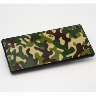 [0.33mm]背面保護プレート Xperia Z4 カモフラージュ Woodland_1
