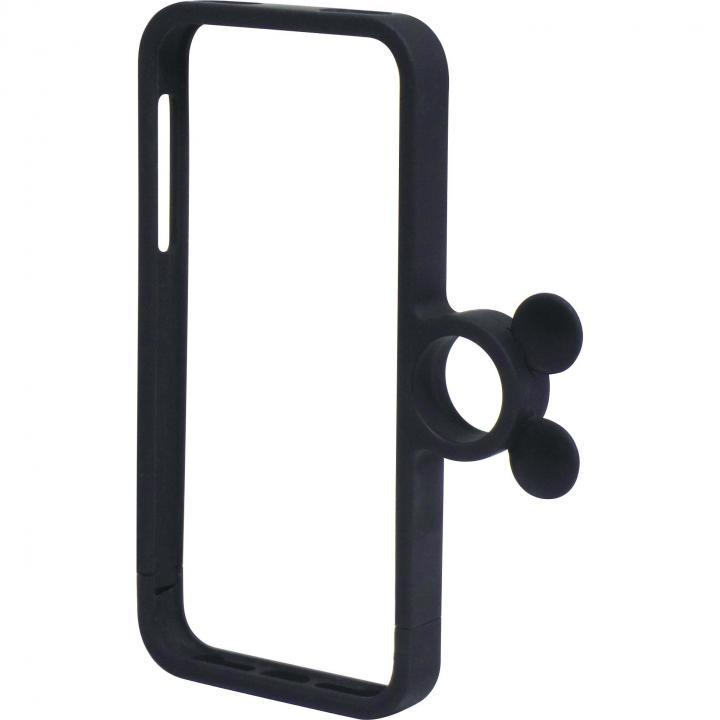 指輪の付いたケース ジュエルフォン ディズニー ミッキーマットブラック iPhone SE/5s/5ケース