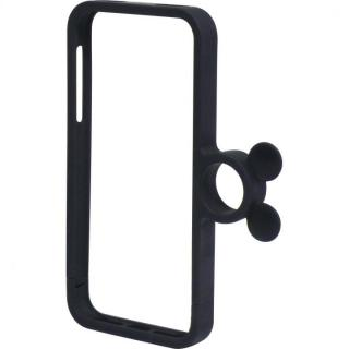 【9月上旬】指輪の付いたケース ジュエルフォン ディズニー ミッキーマットブラック iPhone 5s/5ケース