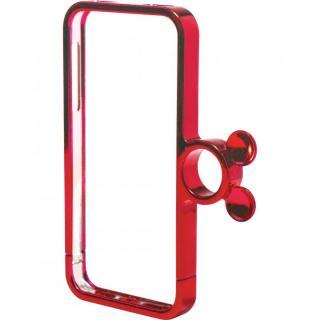 指輪の付いたケース ジュエルフォン ディズニー ミニーメタルレッド iPhone SE/5s/5ケース