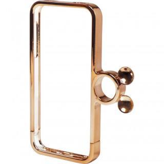 指輪の付いたケース ジュエルフォン ディズニー ミッキー&ミニーピンクゴールド iPhone SE/5s/5ケース