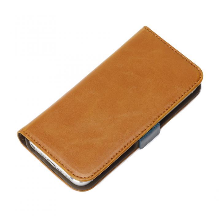 風合いの良いダメージ加工 Premium Style 手帳型ケース キャメル iPhone SE/5s/5ケース