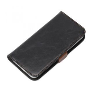 風合いの良いダメージ加工 Premium Style 手帳型ケース ネイビー iPhone SE/5s/5ケース