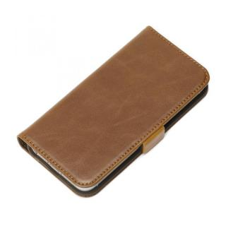 風合いの良いダメージ加工 Premium Style 手帳型ケース ブラウン iPhone SE/5s/5ケース