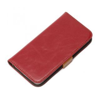 風合いの良いダメージ加工 Premium Style 手帳型ケース ワインレッド iPhone SE/5s/5ケース