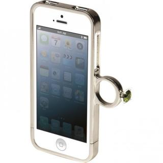指輪の付いたケース ジュエルフォン ディズニー アリエル iPhone SE/5s/5ケース