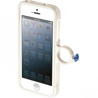 指輪の付いたケース ジュエルフォン ディズニー エルサ iPhone SE/5s/5ケース