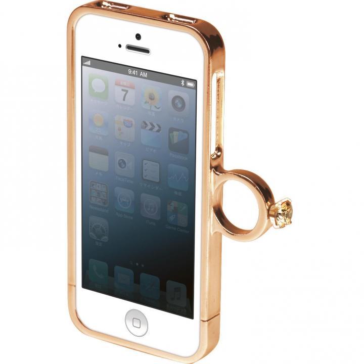 iPhone SE/5s/5 指輪の付いたケース ジュエルフォン ディズニー ベル iPhone SE/5s/5ケース_0