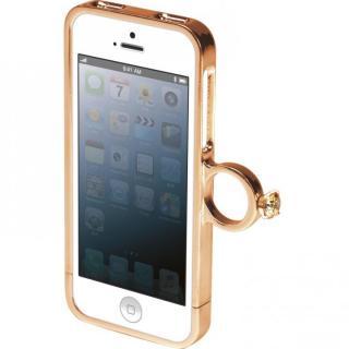 指輪の付いたケース ジュエルフォン ディズニー ベル iPhone SE/5s/5ケース