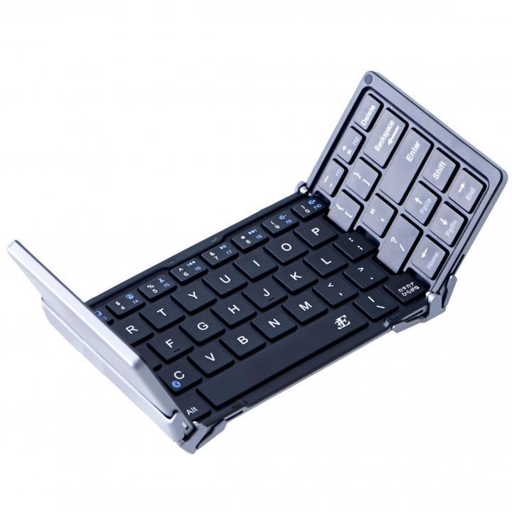 三つ折 Bluetoothコンパクトキーボード 専用ケース付属_0