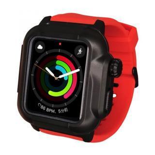 防水防塵ケース Apple Watch 4/5/6/SE 40mm レッド