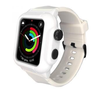 防水防塵ケース Apple Watch 4/5/6/SE 44mm ホワイト