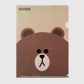 LINE PPフォルダー ブラウン
