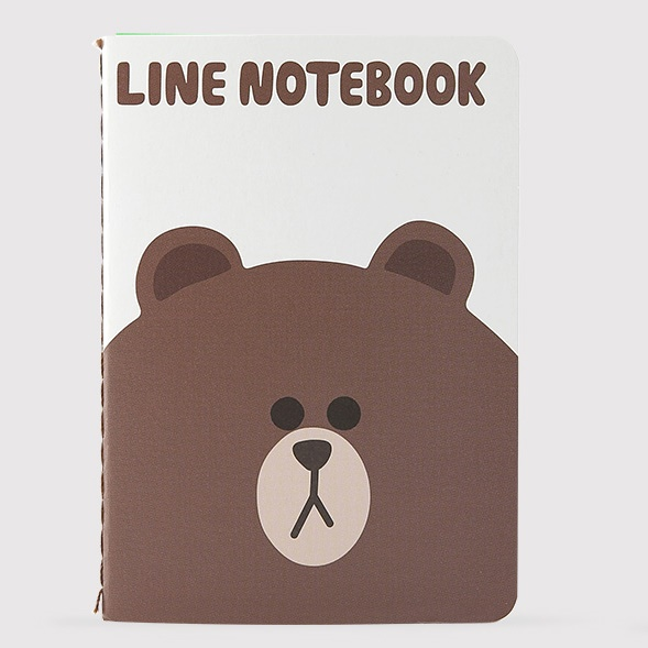 LINE ノート (S) ブラウン_0