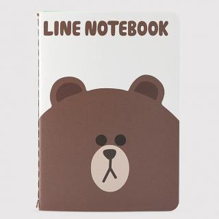LINE ノート (M) ブラウン