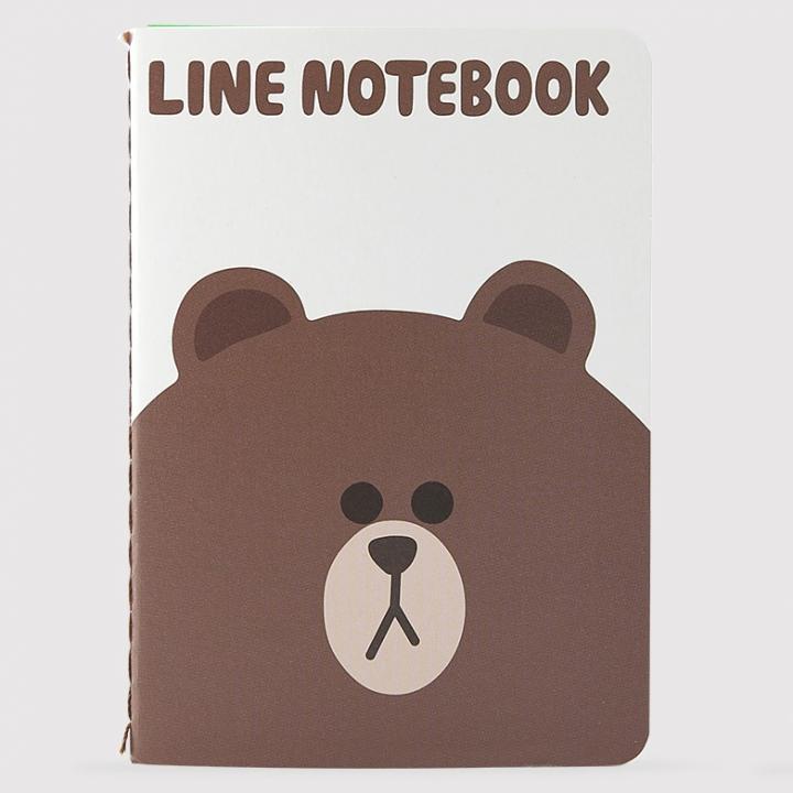 LINE ノート(L) ブラウン
