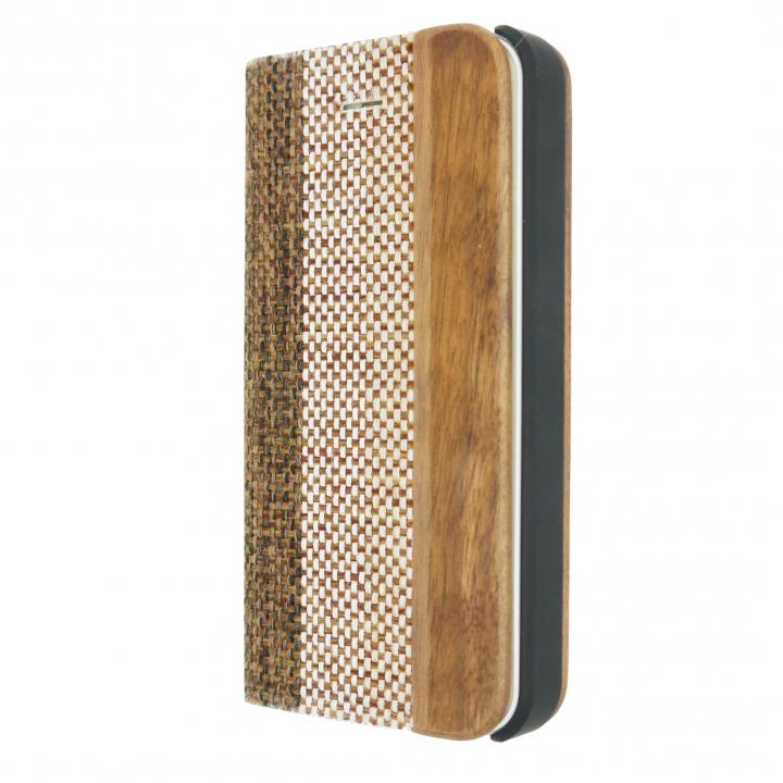 iPhone SE/5s/5 ケース 手帳型ケース Linen Material Beige/Brown iPhone SE/5s/5ケース_0