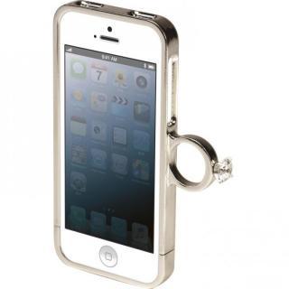 指輪の付いたケース ジュエルフォン ディズニー シンデレラ iPhone SE/5s/5ケース
