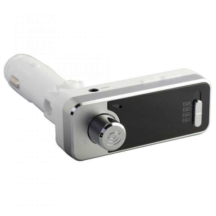 Bluetooth4.1 ワイヤレスFMトランスミッター 12V車専用 USBx2 通話マイク LINE INポート付 OWL-BTFMU331-WH ホワイト_0