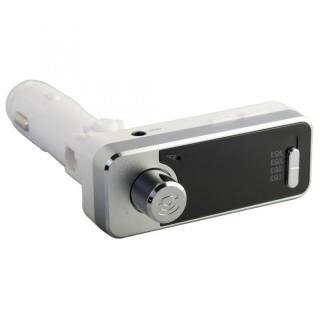Bluetooth4.1 ワイヤレスFMトランスミッター 12V車専用 USBx2 通話マイク LINE INポート付 OWL-BTFMU331-WH ホワイト