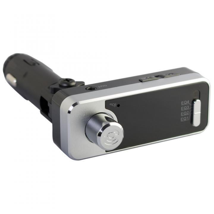 Bluetooth4.1 ワイヤレスFMトランスミッター 12V車専用 USBx2 通話マイク LINE INポート付 OWL-BTFMU331-BK ブラック_0