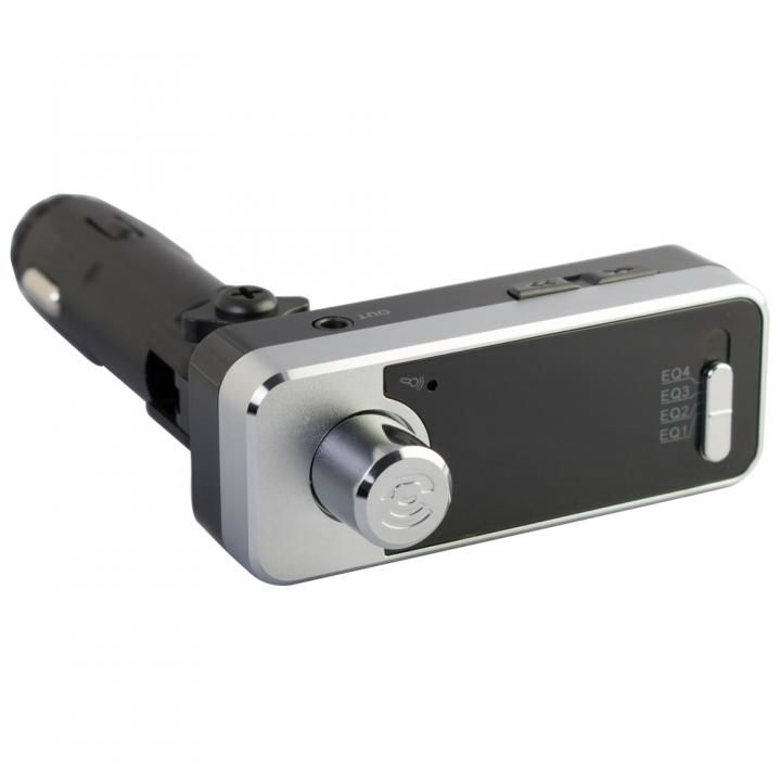 Bluetooth4.1 ワイヤレスFMトランスミッター 12V車専用 USBx2 通話マイク LINE INポート付 OWL-BTFMU331-BK ブラック