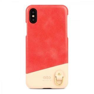 iPhone XS/X ケース alto ANELLO コーラル iPhone XS/X