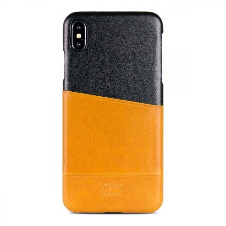 iPhone XS/X ケース alto METRO キャラメル/レイヴン iPhone XS/X【9月下旬】_0