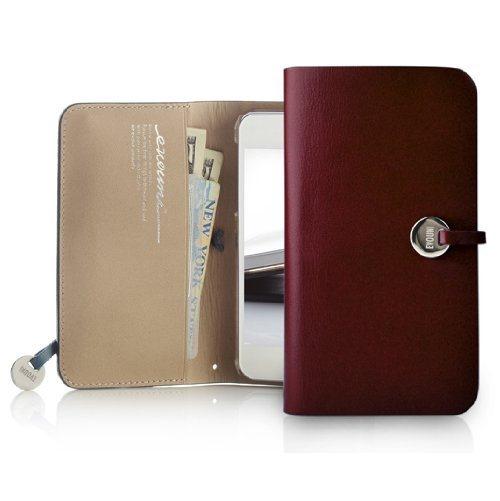 【iPhone SE/5s/5ケース】Leather Arc Wallet_iPhone5 手帳型ケース Claret_0