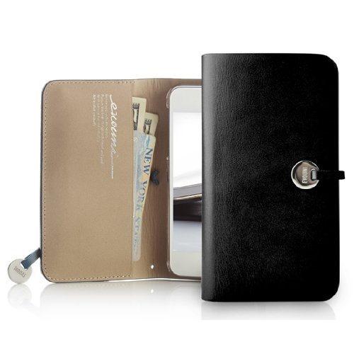 【iPhone SE/5s/5ケース】Leather Arc Wallet_iPhone5 手帳型ケース Black_0
