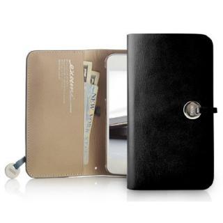 Leather Arc Wallet_iPhone5 手帳型ケース Black