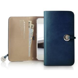 Leather Arc Wallet_iPhone5 手帳型ケース Blue