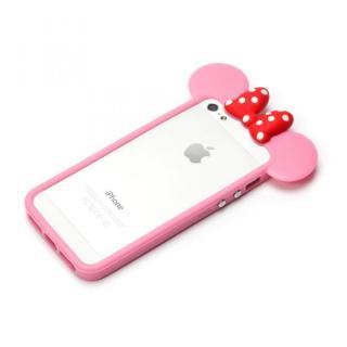 【iPhone SE ケース】ディズニー TPUバンパー ミニー iPhone SE/5s/5バンパー
