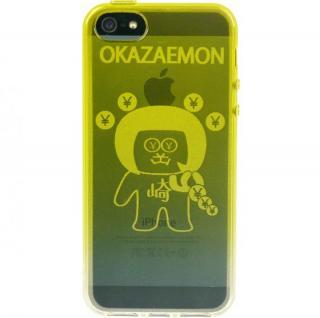 iPhone SE/5s/5 ケース iPhone5 TPUソフトケース オカザえもん 黄