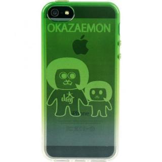 【iPhone SE/5s/5ケース】iPhone5 TPUソフトケース オカザえもん 緑