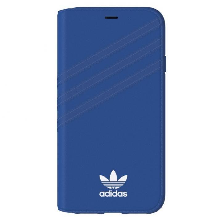 iPhone XS/X ケース adidas Originals 手帳型ケース Collegiate ロイヤル/ホワイト iPhone XS/X_0