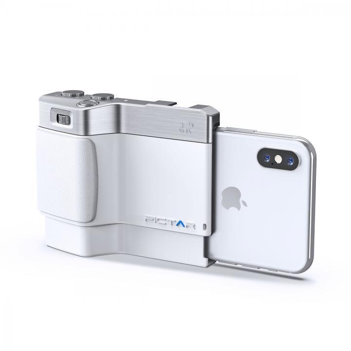 iPhone用カメラグリップ Pictar OnePlus Mark II White iPhone XS/XS Max/X/8 Plus/7 Plus/ 6s Plus/6 Plus_0