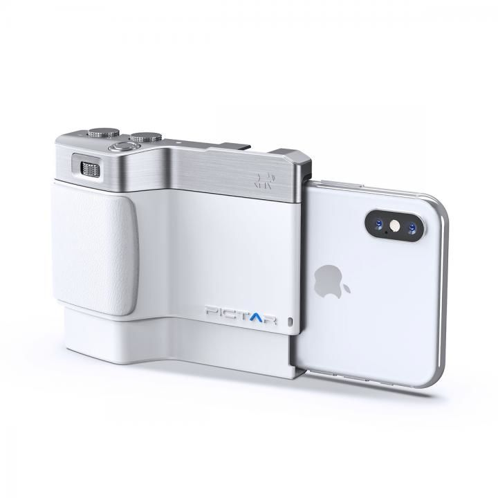 iPhone用カメラグリップ Pictar OnePlus Mark II J White iPhone XS/XS Max/XR/X/8 Plus/7 Plus/6s Plus_0