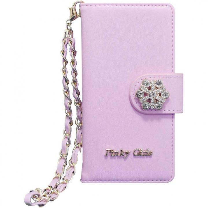 【iPhone6s/6ケース】Pinky Girls 手帳型ケース ビジュー/ピンク iPhone 6s/6_0