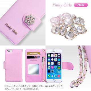 【iPhone6s/6ケース】Pinky Girls 手帳型ケース ビジュー/ピンク iPhone 6s/6_3