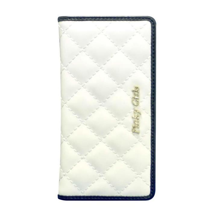 iPhone6s/6 ケース Pinky Girls キルト手帳型ケース ホワイト/ブラック iPhone 6s/6_0